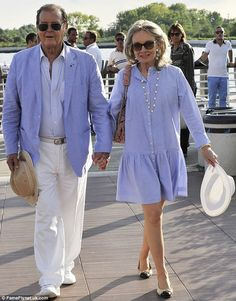 I hope I look like this when I'm 71!  Roger Moore and his wife Kristina Tholstrup arrive in Venice for the 70th Venice Film Festival in Italy