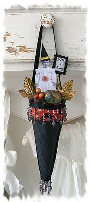 vintage halloween cone .. while i dont really love the fancy victorian ones... this is super cute for fall holiday!