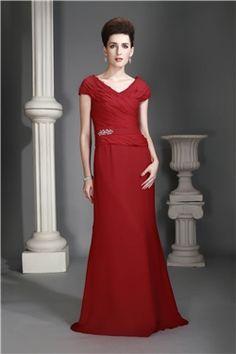 All Sizes Spring Zipper-up Floor-Length Sheath/Column Natural V-Neck Short Sleeves Dress