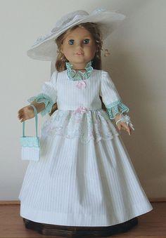 American Girl Doll Elizabeth | Afternnon Tea dress designed for American by MargaretteDesigns4AG