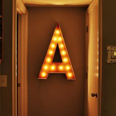 "36"" Letter A by Vintage Marquee Lights"