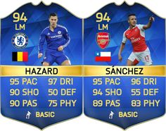 Oh what could have been… Who would love #TOTS Eden #Hazard & Alexis #Sanchez to be in packs right now? #FIFA #FUT