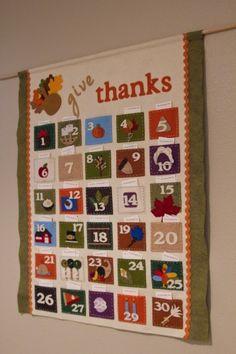 adorable diy thanksgiving advent calendar!