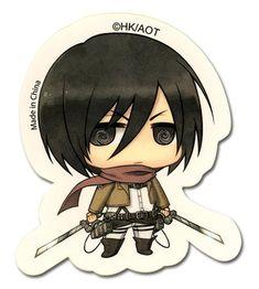 Attack On Titan - Sd Mikasa Sticker [PreOrders SoldOUT]