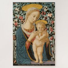 Madonna Virgin Mary Child Jesus Vintage Painting Jigsaw Puzzle #jigsaw #puzzle #jigsawpuzzle Custom Gift Boxes, Customized Gifts, Custom Gifts, Custom Jigsaw Puzzles, Madonna And Child, Make Your Own Puzzle, Christian Art, Virgin Mary, Lovers Art