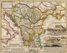 A general map of Turkey in Europe, Hungary, 1736