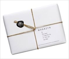 old packaging with an address and a wax stamp. Paper Packaging, Pretty Packaging, Brand Packaging, Gift Packaging, Packaging Design, Simple Packaging, Branding, Wrapping Gift, Brown Paper Packages
