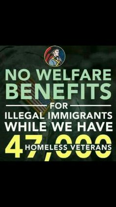 not just WHILE we have homeless vets... but NEVER give benefits to someone who has BROKEN OUR LAWS~!!!!!!!!