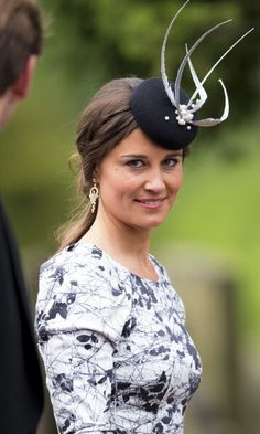 Wow, just wow. Always one to make a statement at a wedding, Pippa donned a fascinating fascinator at the marriage of Melissa Percy and Thomas Van Straubenzee.
