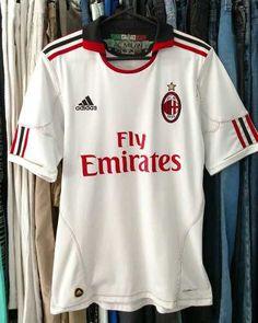 930441c55e Camisa AC Milan Usada Original Temporada 2010   2011 Adidas   Fly Emirates  Tamanho P mas