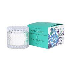 Mrs. Darcy | Crystal Candle Petite - Black Quartz: Mandarin, Vanilla + Patchouli Black Quartz, Crystal Collection, Peta, Wax, Vanilla, Candles, Crystals, Candy, Crystal