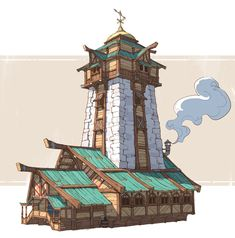 Esbatuan Architecture Jourdan Tuffan - Mine Minecraft World Anime Art Fantasy, Fantasy Concept Art, Fantasy City, Fantasy House, Fantasy Places, Fantasy World, Minecraft Blueprints, Minecraft Designs, Minecraft Projects