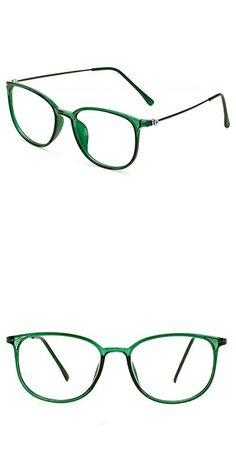 f526e362b8a D.king Womens Fashion Oversized Horn Rimmed Clear Lens Round Circle Glasses  Frames Eyeglasses Green