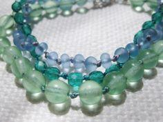 3 seaglass-colored, hand-knotted coastal bracelets by SeaSide Strands www.etsy.com/shop/SeaSideStrands
