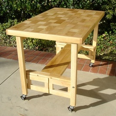 Oasis Concepts Foldable Serving Buffet/Dining Table in Natural - FT-2005X4 Natural