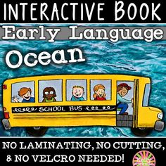 Teach vocabulary, numbers, colors, and 12 other areas of early language skills in 1 low-prep interactive book!