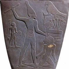 The Giant (on side two of the Nermer plate) is wearing the Red Crown, which is usually associated with Lower Egypt. Clearly there was no Upper and Lower Egypt at the time. This division was imposed later, possibly by well meaning Egyptologists, when the esoteric meaning of the Red and White Crowns was lost. The White Crown, as worn by Osiris is a symbol of Precession.