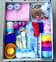 Living Future Memories: Creating the best-ever craft box for 7-12 year olds. The perfect gift for a creative older child.
