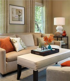 Upholstered Coffee Table Living Room Transitional With Gourd Lamp Modern Sofa