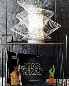 Modern Geometric Wire Lamp —