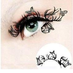 1 Pair Paper Cutting Flower Eye Stickers Eyeliner Royal Luxury False Eyelashes M01120