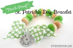 """Pinch Proof"" Bracelet for St. Patrick's Day at my3monsters.com"