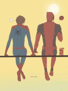 Homem-aranha e Deadpool <3