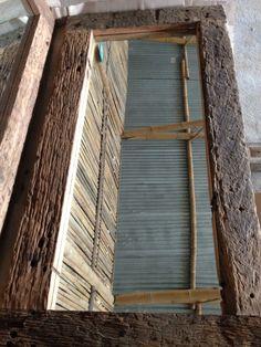 Recycled railway sleepers mirror frames, Java