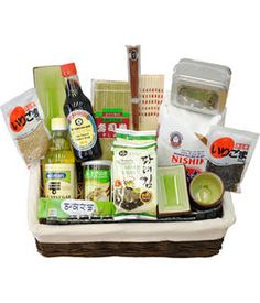 Basket on pinterest themed gift baskets spa basket and for Japanese inspired gifts