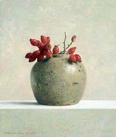 """Natureza Morta""  - Pintura a óleo de Henk Helmantel"