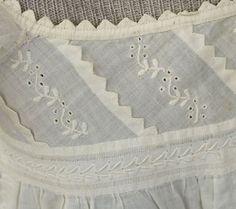 Girl's regency gown with van dyke points. Image @Rósa Guðjónsdóttir Textile