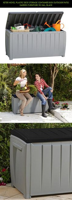 Keter Novel Plastic Deck Storage Container Box Outdoor Patio Garden Furniture 90 Gal, Black #deck #parts #plans #racing #kit #fpv #drone #camera #shopping #decor #gadgets #outdoor #products #technology #tech