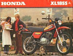1979 Vintage Motorcycle Brochure – Honda XL185-S – Dual-Purpose, Dual-Pleasure. $13.99