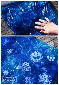 A Snowflake Sensory Bag for No-Mess Sensory Play at B-Inspired Mama