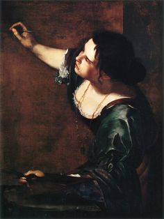 Artemisia Gentileschi (Italian Baroque painter) 1593 - 1652  Self-portrait as the Allegory of Painting, 1638-39  oil on canvas  96.5 x 73.7 cm. (39 x 29 in.).  inscribed: A.G.F. [Artemisia Gentileschi fecit].  Royal Collection, London