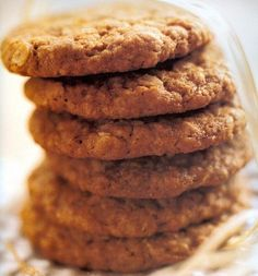 Anzac cookies: a delectable yummy cookie thats easy to cook and It has been claimed the biscuits were sent by wives to soldiers abroad because the ingredients do not spoil easily and the biscuits kept well during naval transportation. Ingredients: 1 cup (150g) plain flour, 1 cup (90g) rolled oats, 1 cup (85g) Ward McKenzie desiccated coconut, 3/4 cup (155g) brown sugar, 125g butter, 2 tbs golden syrup, 1 tsp bicarbonate of soda, 2 tbs water.