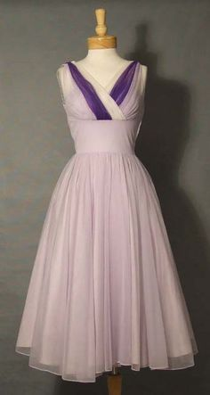 Pretty Lilac gown by Emma Domb, c. 1950s