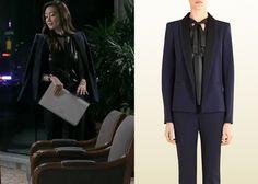 "Choi Ji-Woo 최지우 in ""Temptation"" Episode 1. Gucci Blue Silk Wool Blazer #Kdrama #Temptation #유혹 #ChoiJiWoo"