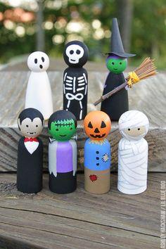 How to Make Peg Dolls - Halloween Peg Dolls