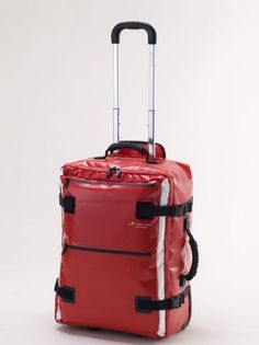 """Hideo Wakamatsu Tarpaulin carry-on ($169, hideowakamatsu.com) You never think you'll need water-resistant luggage…until you do. This lightweight cherry-red trolley case measures 20"""" x 14.5"""" x 8.5"""", but expands when you need it to accommodate a bounty of souvenirs, and then contracts when it has to be stuffed into a crowded overhead bin."""