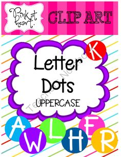 Letter Dots from The Pink at Heart Store on TeachersNotebook.com (54 pages)