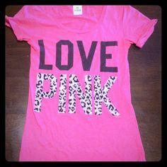 Love Pink Victoria's Secret Shirt Very nice Love Pink Victoria's Secret Shirt. No trade or low balling. PINK Victoria's Secret Tops