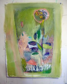 Tall Terrarium Original oil painting on bfk by BrookeWandall,