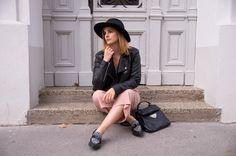 Herbst-Outfit: Sprüche-Shirt, Culotte und Hut - Gscheade Leibal - ned du schau wieda