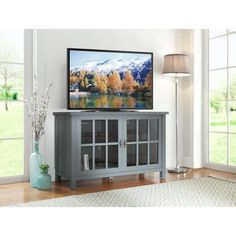 Better Homes and Gardens Oxford Square TV Stand and Console for TVs up to 55 inch, Multiple Colors, Blue