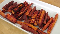 Roasted Sweet Potato Fries Recipe - Laura Vitale - Laura in the Kitchen ...