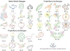 Cherry Embroidery Pattern For Tea Towels | Designs For Tea Towels, Apple,  Rooster, Part 36