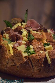 Blooming raclette #bread | Sugar'n'Sale, un blog de recettes de cuisine et de pâtisserie #pain #fromage #aperitif