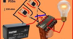 how to make inverter generator? It's a simple 100 Watts inverter circuit. we can get 100 Watts from this circuit diagram. It's for learning people. Electronic Circuit Design, Electronic Engineering, Class D Amplifier, Car Amplifier, Diy Electronics, Electronics Projects, Toroidal Transformer, Simple Circuit, Volt Ampere