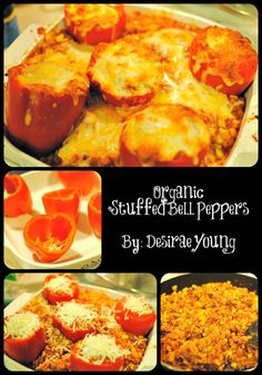 Yummy organic stuffed bell peppers recipe. Quick & easy :)